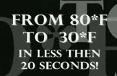 Bière fraîche de glace en 20 secondes !