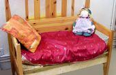 Canapé faite d'une armature de lit