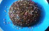 Micro-onde vanille génoise avec chocolat Ganache glaçage