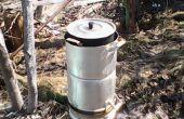 Arrière-cour de gazogène Samara cuisson poêle