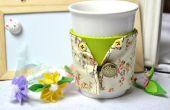 Tissu réutilisable bricolage manchon de tasse à café