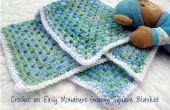 Facile au crochet Miniature Granny Square Baby Blanket