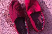 Chaussures de toile rustique bricolage