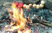 Râteau-brochettes et Racinette mariné Ribeyes