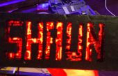 LED signe personnel