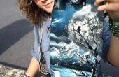 Comment faire une vieille planche à roulettes dans un mini cruiser (style de peinture en aérosol)