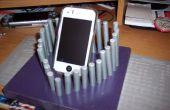 Téléphone cellulaire dest stand support chargeur 3D en forme de cœur