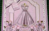 Comment faire un découpage de robe lilas élégant 8 pouces carte & Insert