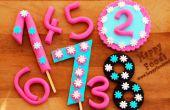 Comment faire des numéros de Fondant pour gâteau d'anniversaire