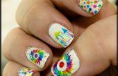 Laser impression nail art : création d'art ongles beaux, complexe, coloré la manière simple