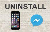 Supprimer Facebook messenger sur Mobile App