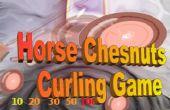 Automne en plein air jeu : jeu de curling le marronnier-