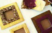 BRICOLAGE Photo Frame d'emballages en carton et chocolat