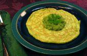 L'ail épinard oeuf crêpes au Pesto - œufs verts réel !