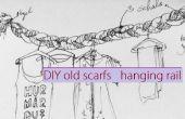 DIY écharpes vieux suspendu rail