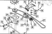 Courroie de transmission / ventilateur remplacement Cub Cadet LTX1045