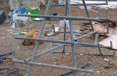 Construire un stockage bois grille de bribes d'escrime