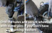 Comment faire pour remplacer une roue sur un chariot mobile