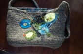 Crochet / feutre / perles sac