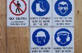 Signalisation de sécurité et de leur usage général