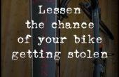 Réduire les risques de votre vélo obtenir volé