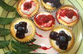 Cupcakes de gâteau au fromage yogourt grec