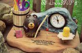 Abeille Creative ! ~ Horloge d'ours chevet et lampe
