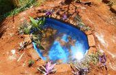Construction d'un petit étang dans le jardin