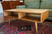 Mid-Century Modern Style Coffee Table faite avec Plyboo (contreplaqué de bambou)