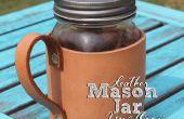 Cuir Mason Jar Mug Coozie !