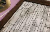 Fausse mousse façades : Bois planches et murs en pierre