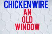 Grillage une vieille fenêtre