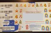 Courrier de Noël avec des codes à barres