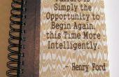 Papier Journal avec gravé citation de Henry Ford