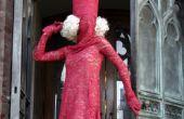 Costume de Lady GaGa rouge dentelle