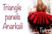 Triangle panels Anarkali