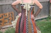 Robe Corset steampunk cravate