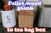 Planche de palette à boîte de sachets de thé