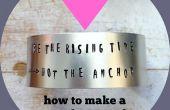 Comment faire un métal estampillé Bracelet manchette