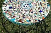 Table de mosaïque verre mer