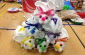 Gant de toilette lapins de Pâques !