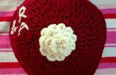 Personnalisé coeur Crochet coussin