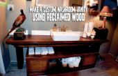 Faire un meuble de toilette personnalisé avec le bois récupéré !