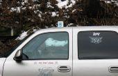 Tasse de café sur la farce de voiture/camion