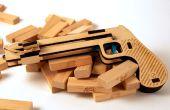 En bois Laser Cut Jenga pistolet