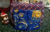 Starry Night argile polymère plat porte-éponge