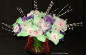Un Bouquet de fleurs faites d'ail Mesh sacs