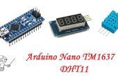 Arduino Nano TM1637 affichage à 4 chiffres capteur DHT11 d'humidité température