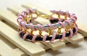 Bracelet chaine tissé bricolage