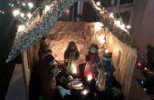 Crèche de Nativité - boîte de couches Upcycle, coquille pistache et sac-cadeau